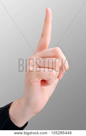 Pointing Finger Up Isolated