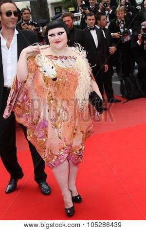 CANNES, FRANCE - MAY 21:Singer Beth Ditto attends the 'Outside the Law' premiere at the Palais des Festivals during the 63rd  Cannes Film Festival on May 21, 2010 in Cannes, France