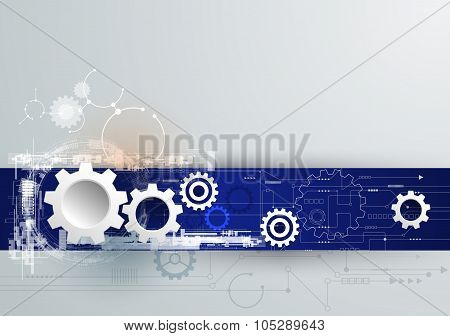 Vector Illustration Hi-tech Digital Technology, Engineering Technology concept