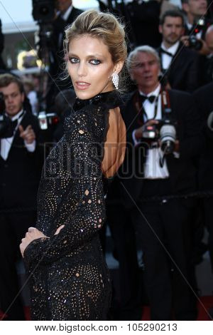 CANNES, FRANCE - MAY 20: Anja Rubik attends the 'This Must Be The Place' premiere during the 64th Annual Cannes Film Festival at Palais des Festivals on May 20, 2011 in Cannes, France.