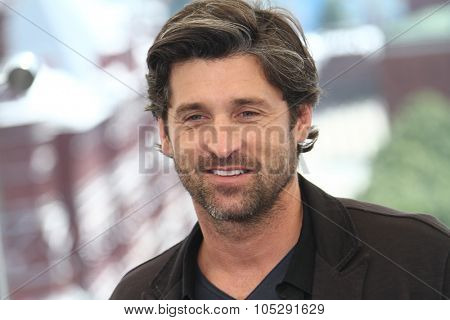 MOSCOW, RUSSIA - JUNE 23: Patrick Dempsey poses for a photocall before global premiere of 'Transformers 3' movie on the roof of the Ritz hotel on June 23, 2011 in Moscow, Russia