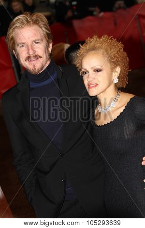 BERLIN, GERMANY - FEBRUARY 09: Matthew Modine and wife Caridad Rivera attends the 'Les Adieux De La Reine' Premiere during of the 62 Berlin  Festival at the Palast on Feb. 9, 2012 in Berlin, Germany.
