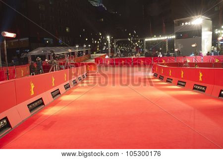 BERLIN, GERMANY - FEBRUARY 15: Berlinale Palast, red carpet the main venue at the 63th Berlinale International Film Festival on February 15, 2013 in Berlin, Germany