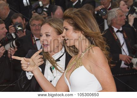 CANNES, FRANCE - MAY 15:  Cindy Crawford and Eva Cavalli 'The Great Gatsby' Premiere during the 66th Annual Cannes Film Festival at the Theatre Lumiere on May 15, 2013 in Cannes, France.