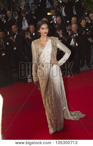 CANNES, FRANCE - MAY 15: Sonam Kapoor  'The Great Gatsby' Premiere during the 66th Annual Cannes Film Festival at the Theatre Lumiere on May 15, 2013 in Cannes, France.