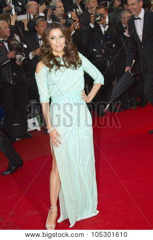 CANNES, FRANCE - MAY 18: Eva Longoria attends 'Jimmy P. (Psychotherapy Of A Plains Indian)' Premiere during the 66th Cannes Film Festival at Grand Theatre Lumiere on May 18, 2013 in Cannes, France.
