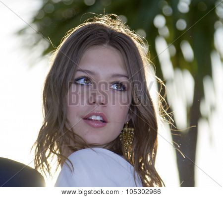 CANNES, FRANCE - MAY 26: Adele Exarchopoulos attends the Palme D'Or Winners Photocall during the 66th  Cannes Film Festival at the Palais des Festivals on May 26, 2013 in Cannes, France.