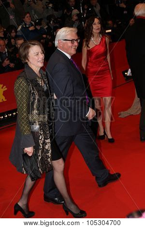 BERLIN, GERMANY - FEBRUARY 06: Foreign Minister Frank-Walter Steinmeier  attends 'The Grand Budapest Hotel' Premiere during the 64th Berlinale Festival at Palast on February 6, 2014 in Berlin, Germany