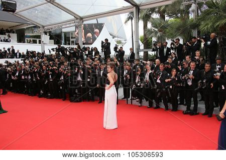 CANNES, FRANCE - MAY 14: Adele Exarchopoulos  attends the opening ceremony and 'Grace of Monaco' premiere at the 67th Annual Cannes Film Festival on May 14, 2014 in Cannes, France.