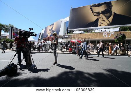 CANNES, FRANCE - MAY 214: A general view of atmosphere on during the 67th Annual Cannes Film Festival on May 14, 2014 in Cannes, France.
