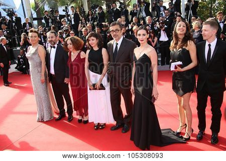 CANNES, FRANCE - MAY 24: Nuri Bilge Ceylan attend the Closing Ceremony and 'A Fistful of Dollars' Screening during the 67th Annual Cannes Film Festival on May 24, 2014 in Cannes, France.
