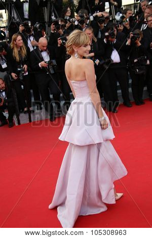 CANNES, FRANCE - MAY 18: Suki Waterhouse attends 'The Homesman' premiere during the 67th Annual Cannes Film Festival on May 18, 2014 in Cannes, France.