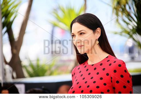 CANNES, FRANCE - MAY 18: Monica Bellucci attends 'The Wonders' photocall at the 67th Annual Cannes Film Festival on May 18, 2014 in Cannes, France.