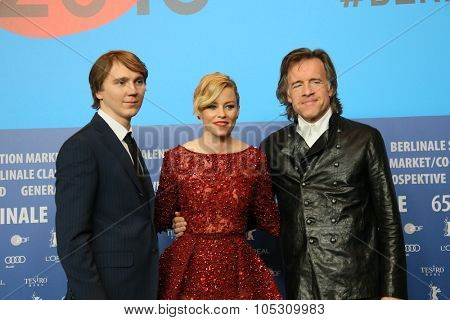 FEBRUARY 08: Paul Dano, Elizabeth Banks,  Bill Pohlad attends the 'Love & Mercy' press conference during the 65th Berlinale Film Festival at Grand Hyatt Hotel on February 8, 2015 in Berlin, Germany