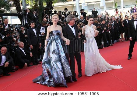 Cate Blanchett,  Rooney Mara, Todd Haynes attendsthe 'Carol' Premiere during the 68th annual Cannes Film Festival on May 17, 2015 in Cannes, France.