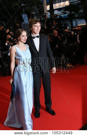 CANNES, FRANCE - MAY 20, 2015: Paul Dano and Zoe Kazan attend the 'Youth' Premiere during the 68th annual Cannes Film Festival on May 20, 2015 in Cannes, France.