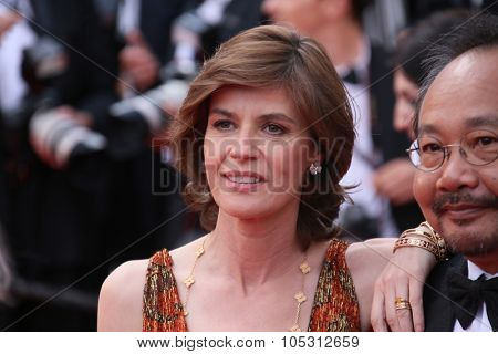 Irene Jacob attend the 'Dheepan' Premiere during the 68th annual Cannes Film Festival on May 21, 2015 in Cannes, France.