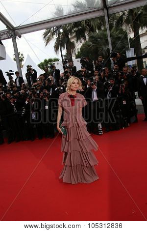 Sienna Miller attends the 'Macbeth' Premiere during the 68th annual Cannes Film Festival on May 23, 2015 in Cannes, France.