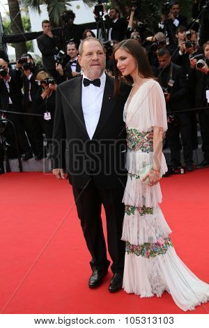 Harvey Weinstein and Georgina Chapman attend the closing ceremony during the 68th annual Cannes Film Festival on May 24, 2015 in Cannes, France.
