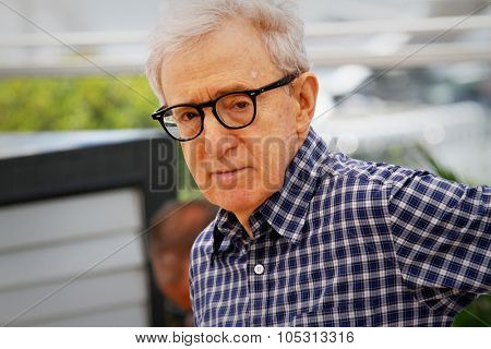 Director Woody Allen attends the 'Irrational Man' photocall during the 68th annual Cannes Film Festival on May 15, 2015 in Cannes, France.