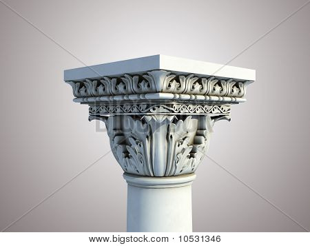 Greek pedestal isolated
