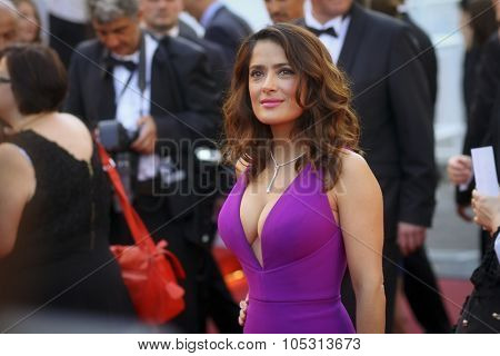 Actress Salma Hayek attends the 'Carol' Premiere during the 68th annual Cannes Film Festival on May 17, 2015 in Cannes, France.