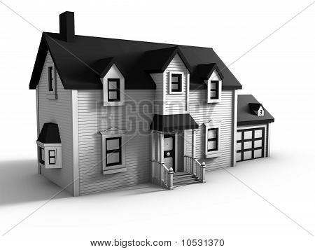 House isolated on white