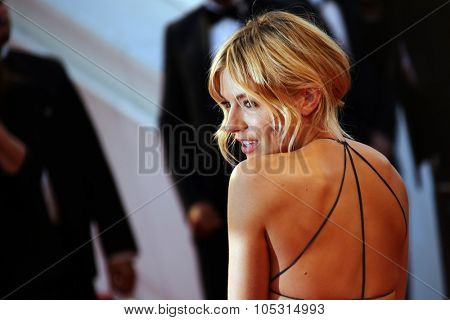 Sienna Miller  attends the premiere of 'The Sea Of Trees' during the 68th annual Cannes Film Festival on May 16, 2015 in Cannes, France.