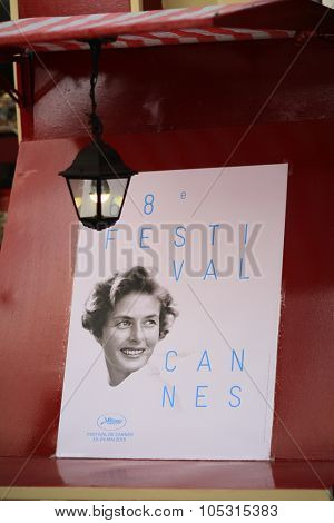 CANNES, FRANCE - MAY 20, 2015: Poster during the 68th annual Cannes Film Festival on May 20, 2015 in Cannes, France.