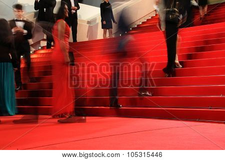 Guest  attends the 'Macbeth' Premiere during the 68th annual Cannes Film Festival on May 23, 2015 in Cannes, France.