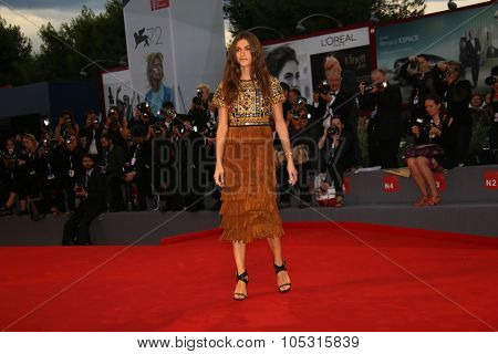 Elisa Sednaoui attends a premiere for 'A Danish Girl' during the 72nd Venice Film Festival at on September 5, 2015 in Venice, Italy.