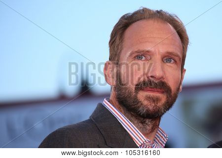 Ralph Fiennes  attends a premiere for 'A Bigger Splash' during the 72nd Venice Film Festival at Sala Grande on September 6, 2015 in Venice, Italy.