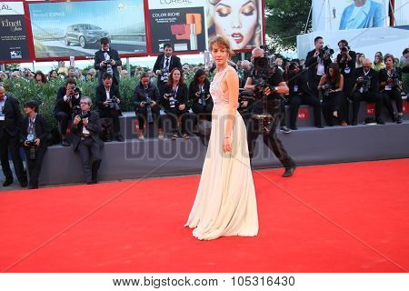 Cristiana Capotondi attends a premiere for 'Rabin, The Last Day' during the 72nd Venice Film Festival at Palazzo del Casino on September 7, 2015 in Venice, Italy.