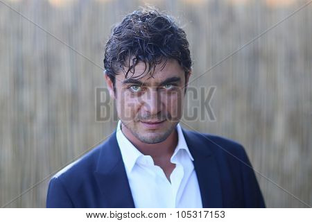 Actor Riccardo Scamarcio  attends a photocall for  'La Prima Luce' during the 72nd Venice Film Festival on September 10, 2015 in Venice, Italy.