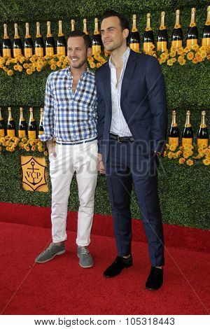 LOS ANGELES - OCT 17:  Jason Landau, Cheyenne Jackson at the Sixth-Annual Veuve Clicquot Polo Classic at the Will Rogers State Historic Park on October 17, 2015 in acific Palisades, CA
