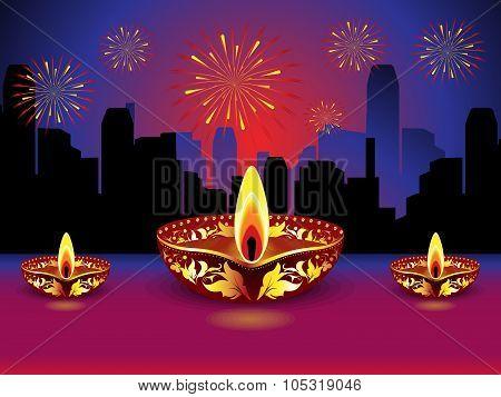 Artistic Detailed Diwali Background