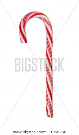 Big Candy Cane Isolated With Path