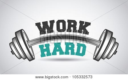 hard work in the gym