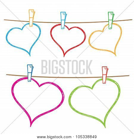Doodle frames for text or photo