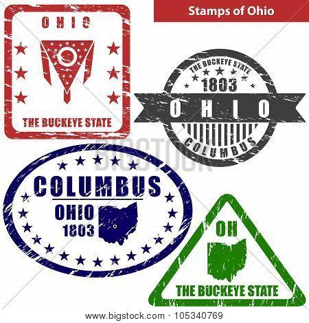 Stamps Of Ohio, Usa