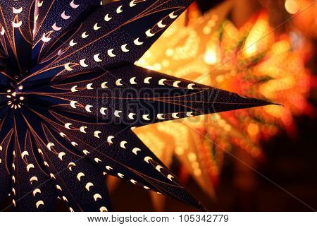 A Traditional Lantern On The Backdrop Of Other Lanterns Lit On The Ocassion Of Diwali Festival In In