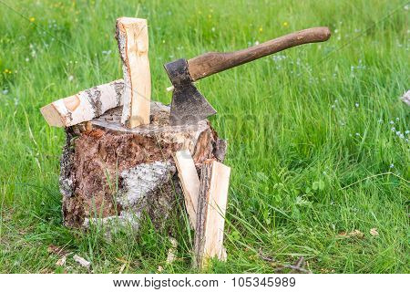 Old Weathered Axe