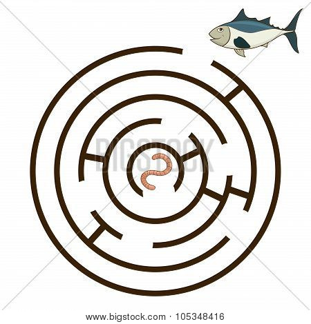 Game labyrinth find a way tunny vector