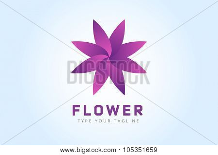 Abstract flower vector icon logo. Nature flower icon. Vector nature flower silhouette Abstract flower logo symbol. Flower logo isolated. Flower icon logotype. Flower eco flower vector logo