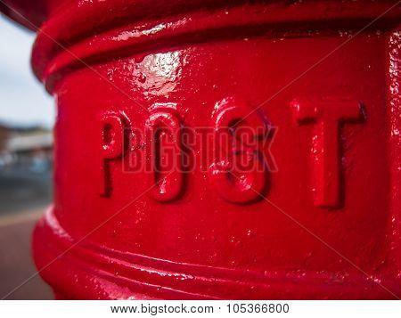 British Post Box Detail
