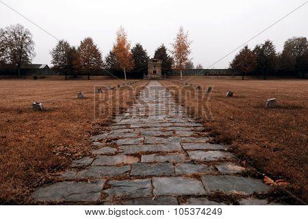 Terezin memorial in Czech Republic, autumn weather