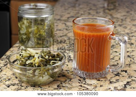 Mixed Vegetable Sauerkraut Kimchi