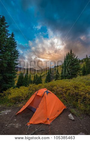 Tent In The Rockies