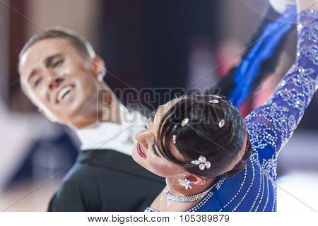 Minsk, Belarus-september 26, 2015: Kaliuzhnyy Vitaly And Kaletnik Vladyslava Perform Youth Standard