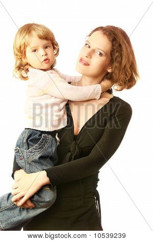 Child On Mother Hands